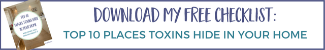 Top 10 Places Toxins Hide in Your Home checklist
