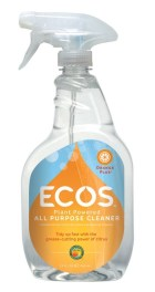 ECOS All Purpose Cleaner Orange Plus and other non-toxic cleaning sprays