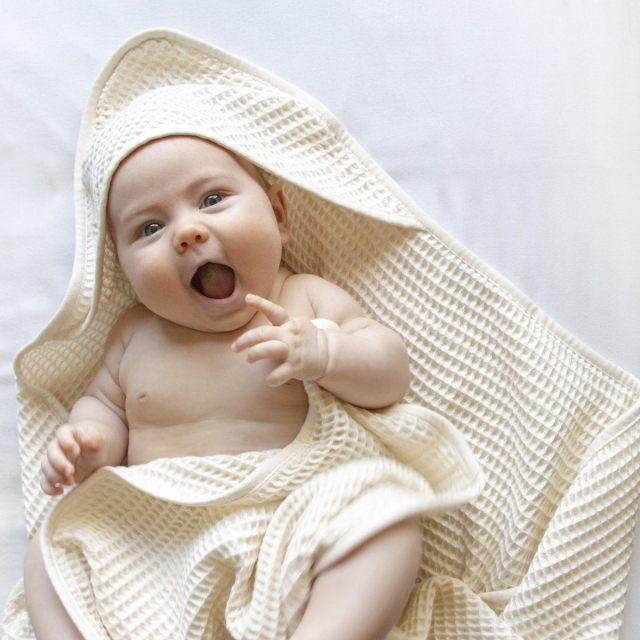 Bamboo waffle baby towel eco friendly