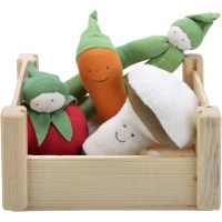 Veggie Crate Plush Dolls Set