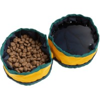 Recycled Polyester Collapsible Dog Bowl