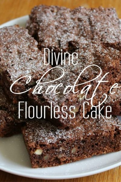 Divine Chocolate Flourless Cake Recipe (with free Superfood Chocolate trial)