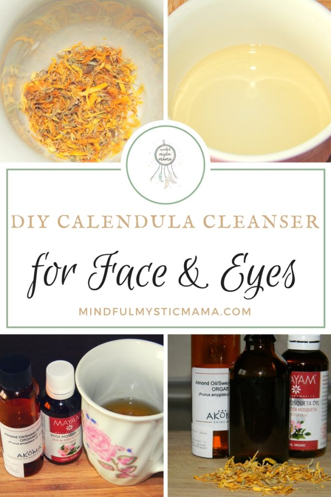 diy calendula cleanser for face and eyes