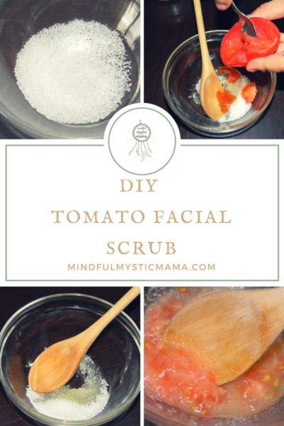 DIY Tomato Facial Scrub