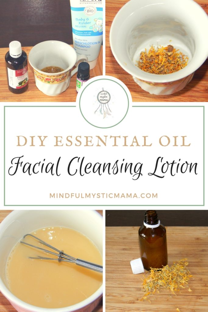 diy essential oil facial cleansing lotion