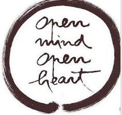 Open Mind, Open Heart calligraphy
