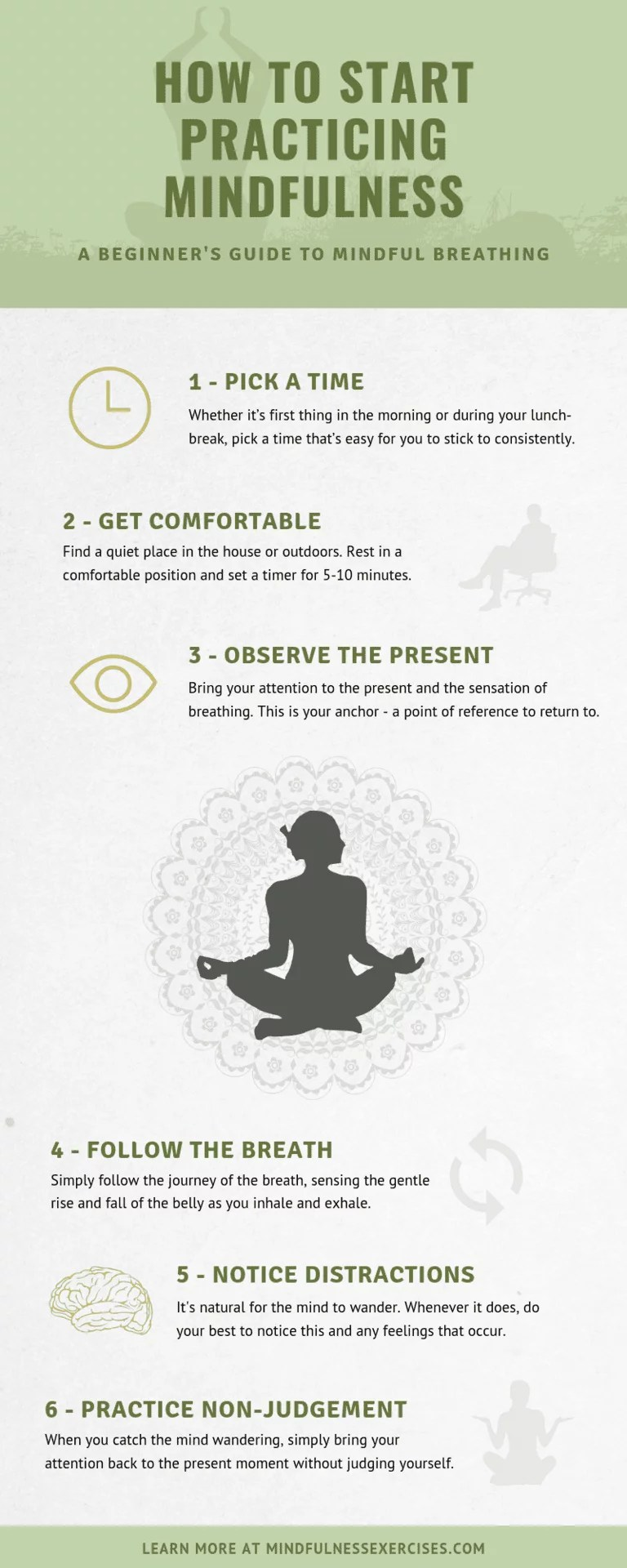 8 Mindfulness Exercises for Beginners (+Infographic) How To Start Practicing Mindfulness