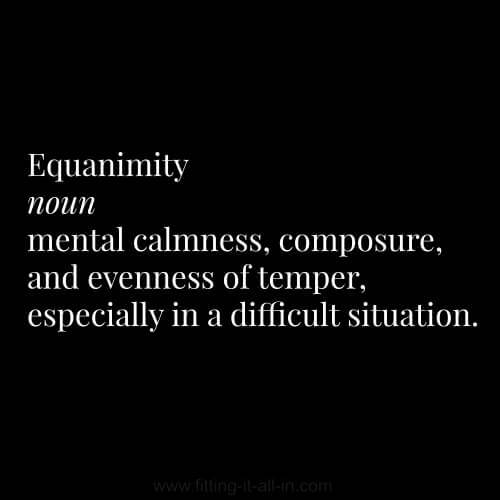 Definition of Equanimity