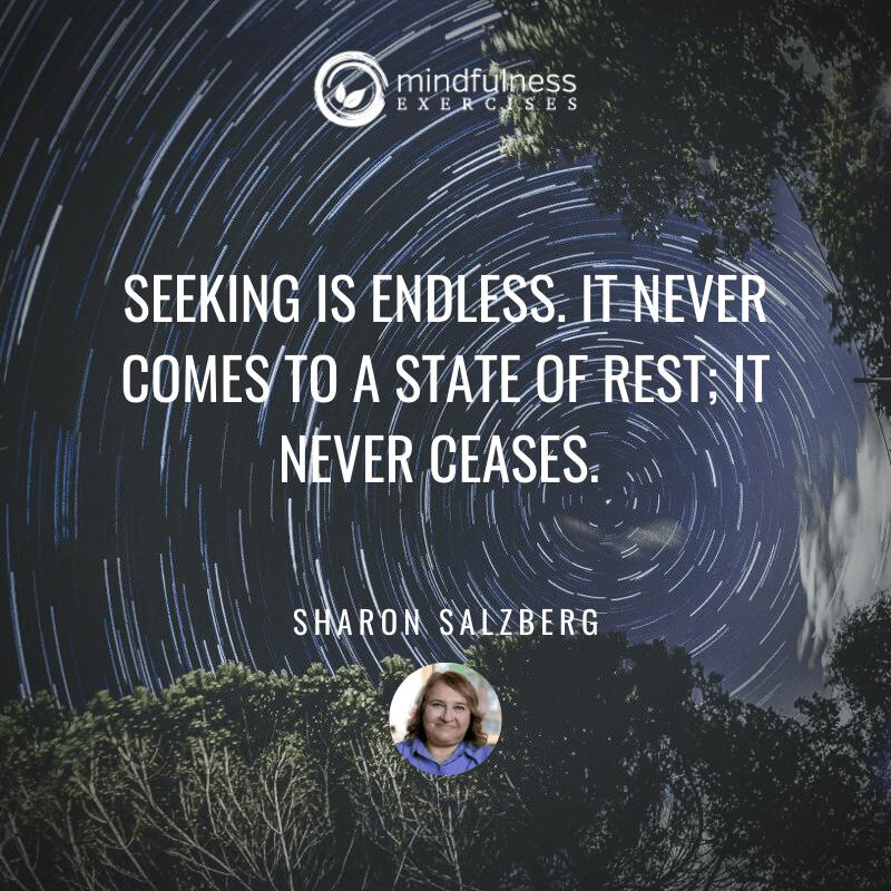 Seeking Is Endless Sharon Salzberg Inspirational Mindfulness Quotes