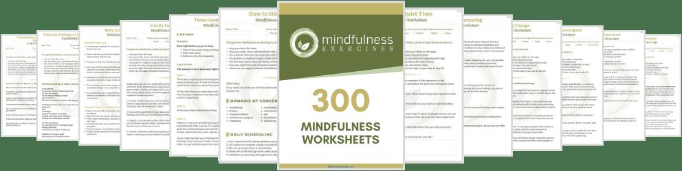 300 mindfulness worksheets
