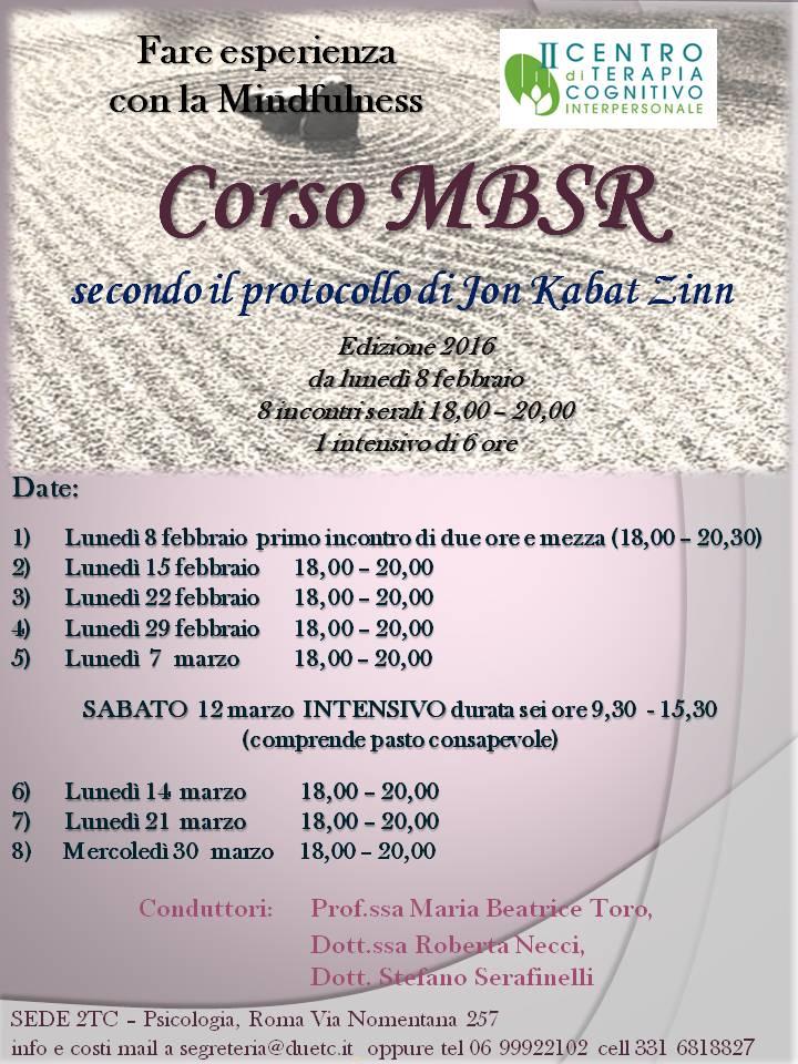 MBSR 2016