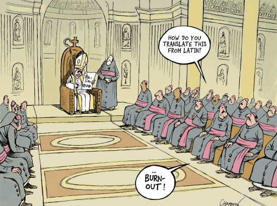 the Pope and burnout
