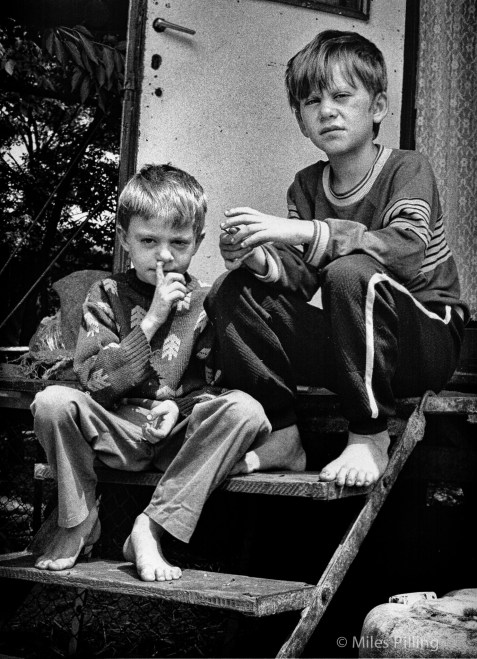 Circus children, Romanian National Circus, 1992