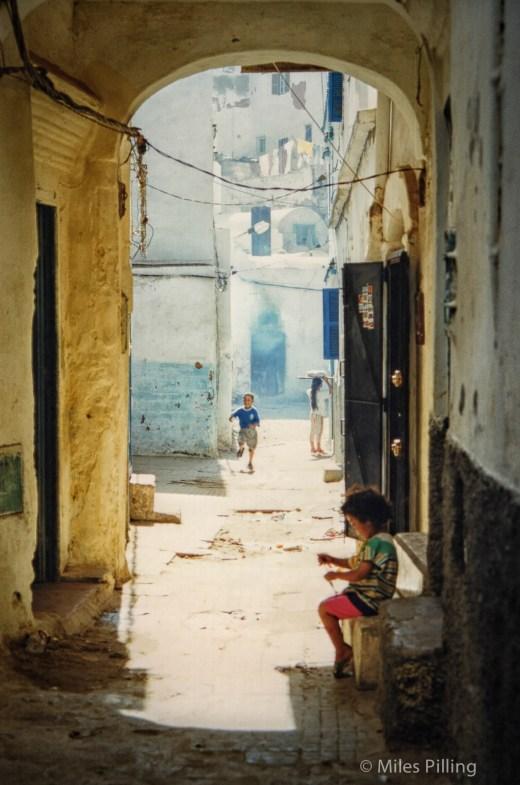 Moroccan children in Chefchaouen, 1997