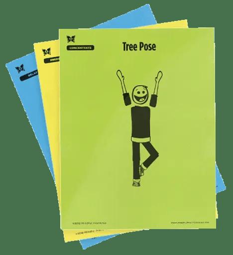 Large, Laminated Yoga Pose Cards