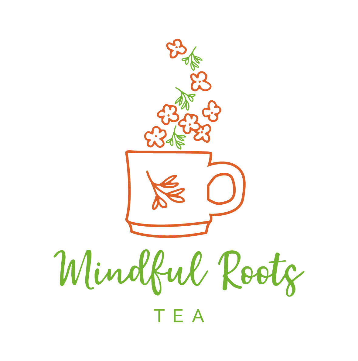 Mindful Roots Logo White Background