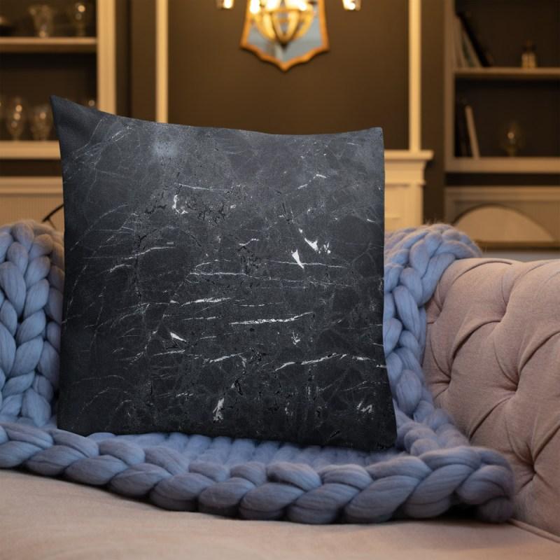 Zwarte marmeren Premium kussen