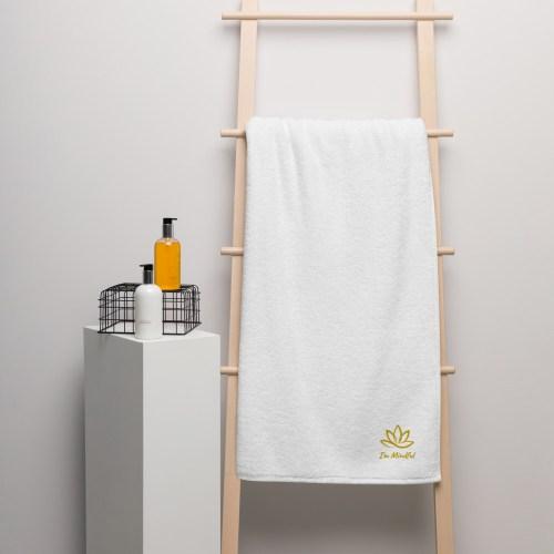 Oversized Turkse katoenen handdoek.