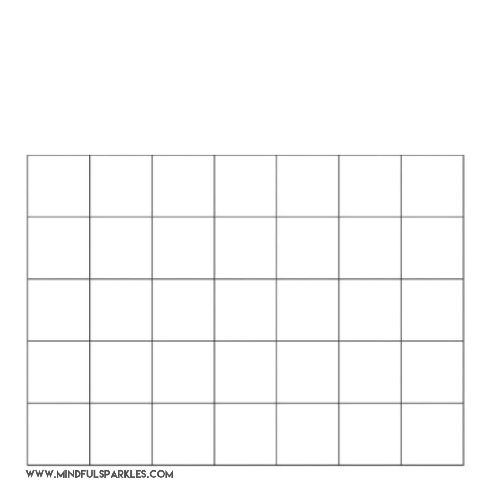 Completely Blank Grid 5x7