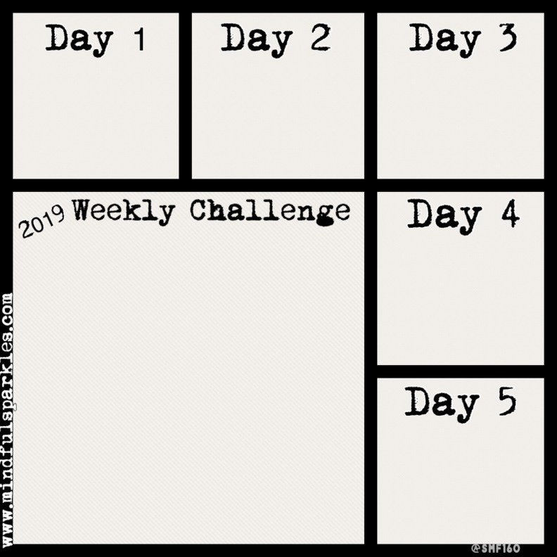 5 day digital tracking grid for Weekly Challenges - MindfulSparkles.com