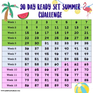 90 Day Ready Set Summer Challenge Tracker