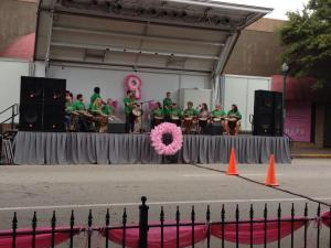 Chattahoochee Rhythm Keepers first performance at Paint the Town Pink (2014)