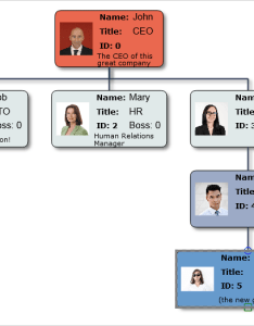 Run the sample also org chart in javascript with diagram library mindfusion rh