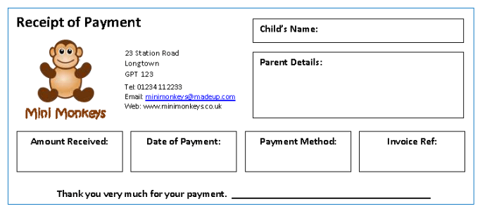 Invoices & Receipts MindingKids
