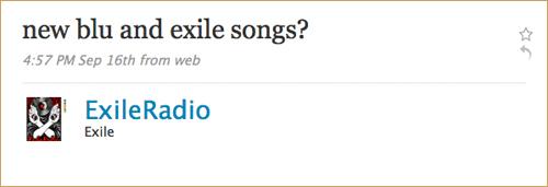 Blu Exile Twit