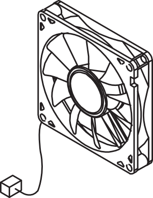 HP RK2-1991 fan 3 for HP LJ P4014 and M601 Series Printers.