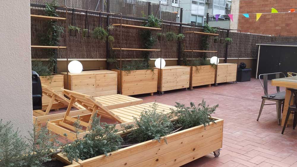 Jardin Madera Muebles De Palets Novocom Top