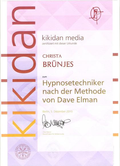 Zertifikat Hypnose nach Dave Elman