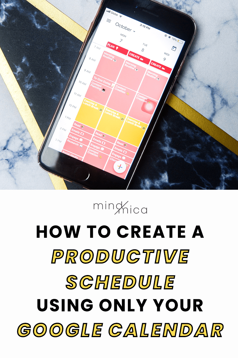 Here's a step-by-step guide to create a productive schedule with Google Calendar. With Google Calendar, you can use time blocking and other time management techniques to help you be more productive and design an effective schedule using timebatching.