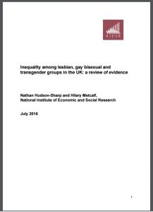 front cover of the report- white with text