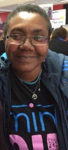 portrait of jeanette, a black woman in a mindout tshirt