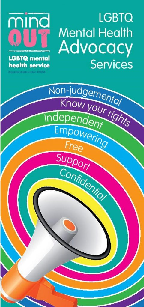 cover of the mindout advocacy pdf leaflet