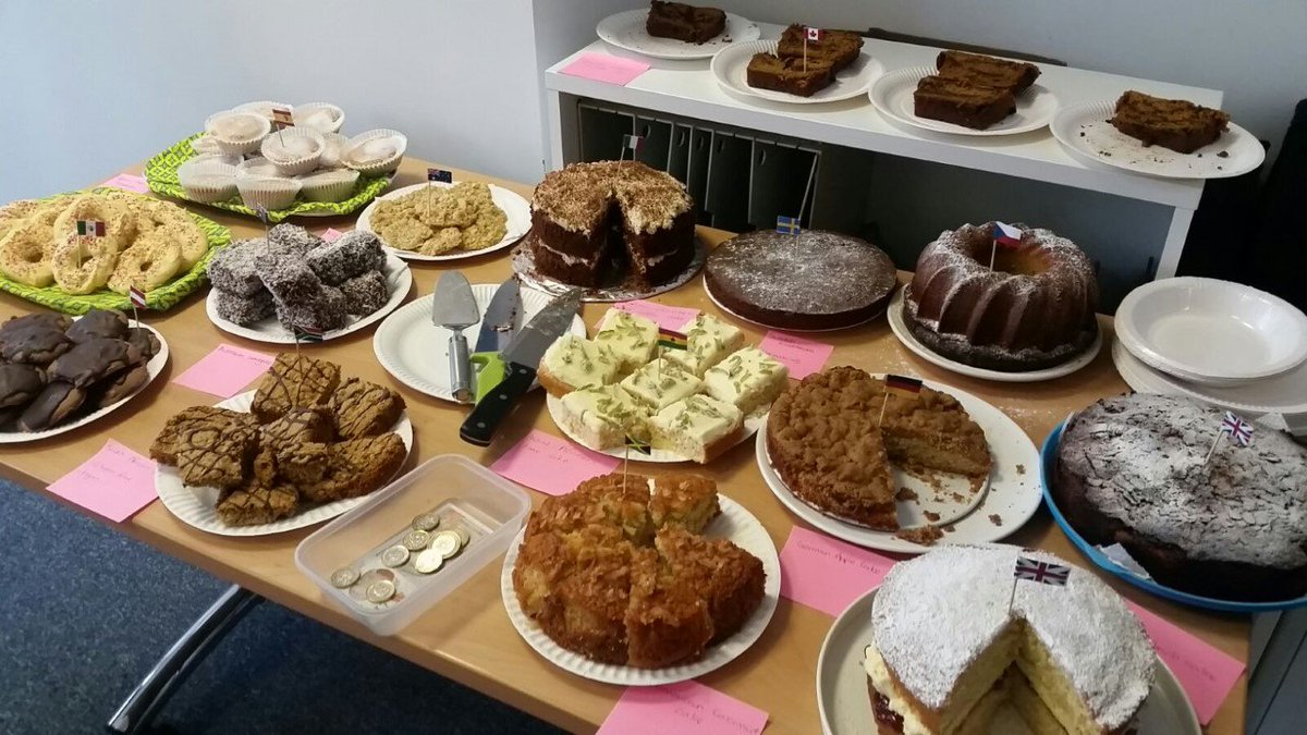 A table of delicious baked goods
