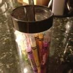 Organize children's toys in cupholders