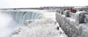 Enjoy a walk and view Niagara Falls, dress warmly