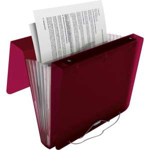 Fold over lid keeps document secure.