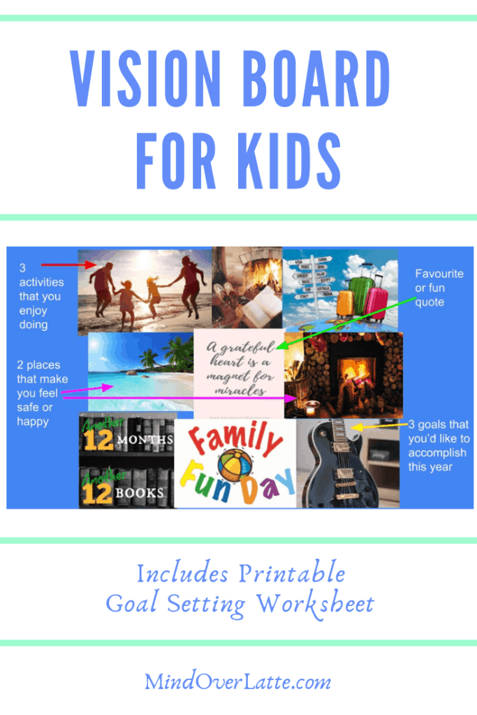Vision Board For Kids - Goal Setting For Kids - MindOverLatte.com