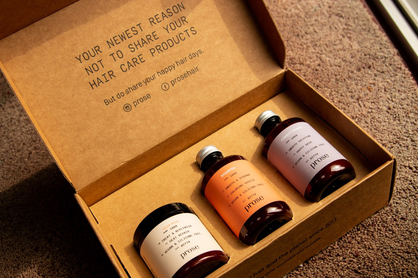 Prose Hair Care Unboxing Video