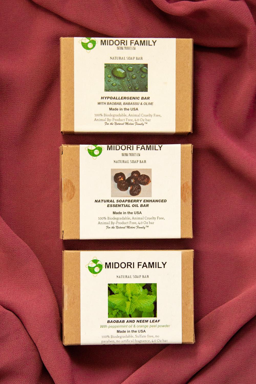 Clean Vegan USDA Organic Beauty Midori Family Soaps