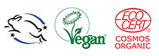 Leaping Bunny Vegan Society Ecocert Certified Large Long