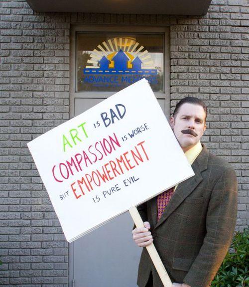 Harold Toboggans boycotts Art for Advance