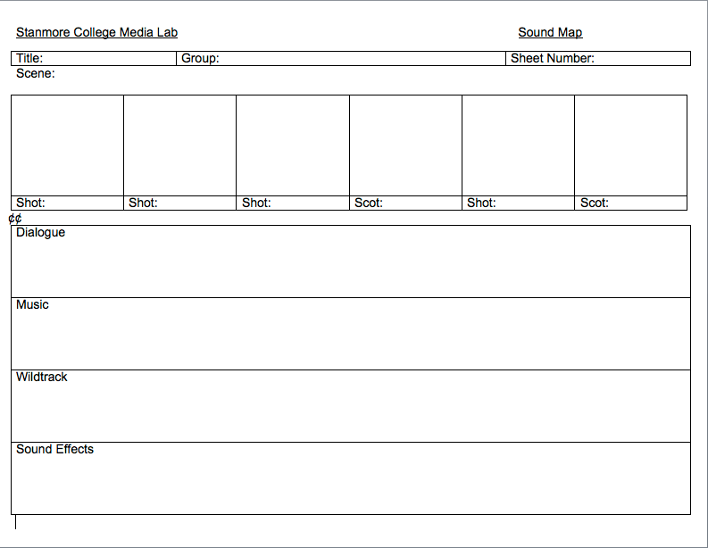 shooting script template word