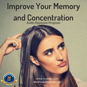 Improve Your Memory and Concentration Audio Hypnosis MP3 Program