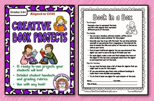 small resolution of Ten Great Creative Book Report Ideas - Minds in Bloom