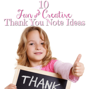 10 Fun and Creative Thank You Note Ideas
