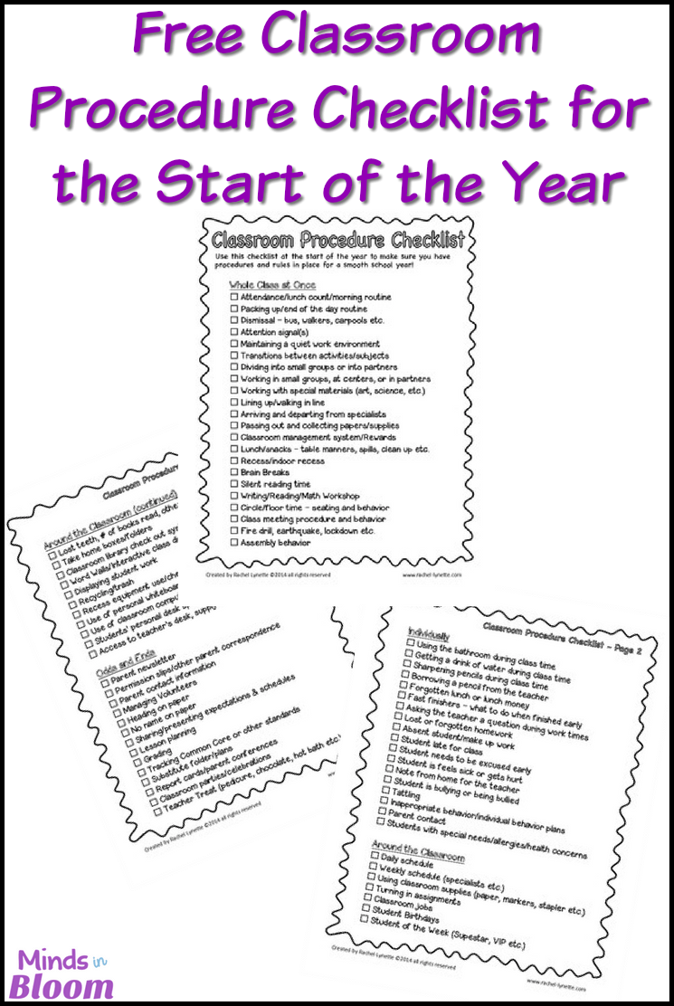 Wanting to start the new school year off on the right foot? Of course you are! This FREE classroom procedure checklist will help you accomplish just that. Click through to download your free checklist now!